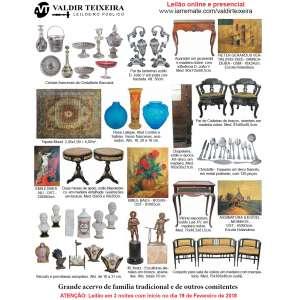 Galeria Valdir Teixeira - GRANDE LEILÃO DE FEVEREIRO (3 NOITES) - Início dia 19/02/2018