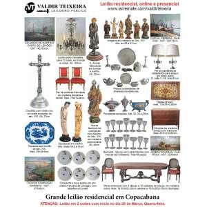 Galeria Valdir Teixeira - LEILÃO RESIDENCIAL EM COPACABANA (2 NOITES) - Início quarta-feira, dia 28/03/2018