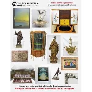 Galeria Valdir Teixeira - GRANDE LEILÃO DE AGOSTO (3 NOITES) - Início SEGUNDA-FEIRA, dia 13/08/2018