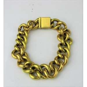 Pulseira em ouro 18k formada por elos. Peso 23.5g. Este ítem não se encontra no local do leilão.