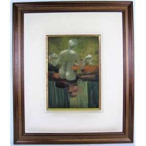ENRICO BIANCO (1918-2013) - NÚ FEMININO - OSE - 35x25. Assinado e datado de 1971. Obra analisada pelo filho do artista, com possibilidade de emissão de certificado de autenticidade.