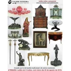 Galeria Valdir Teixeira - GRANDE LEILÃO DE AGOSTO (5 NOITES) - DE SEGUNDA À SEXTA-FEIRA, início dia 26/08/2019.