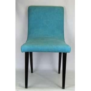 Cadeira anos 60, com pês em madeira. Estofada e forrada em tecido. Marcas de uso. Med. 87x47x55cm.