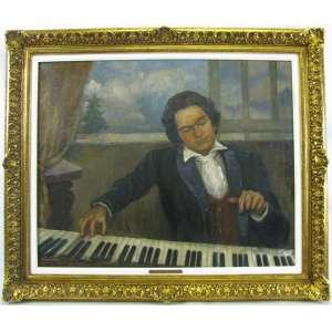 LUIS ALMEIDA JUNIOR - BETHOVEN - OST - 65X80 cm.