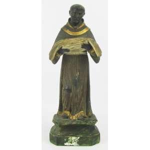 São Benedito - Imagem do Séc. XIX, em madeira policromada. Alt. 28cm.