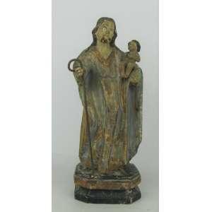 São José - Imagem em madeira policromada com olhos em vidro. Alt. 23cm.