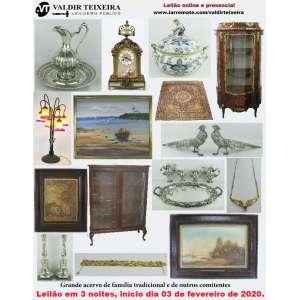 Galeria Valdir Teixeira - GRANDE LEILÃO DE FEVEREIRO (3 NOITES) - DE SEGUNDA À QUARTA-FEIRA, início dia 03/02/2020.