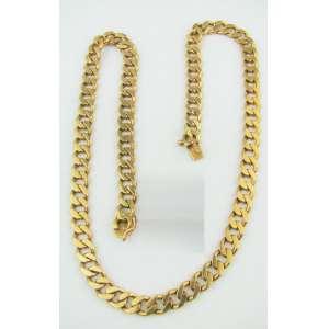 Cordão em ouro baixo. Comprimento aberto 43,5cm. Peso 48g. Este ítem não se encontra no local do leilão.