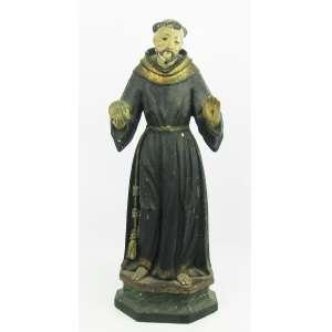 São Francisco - Bela imagem de coleção, do Séc. XIX, em madeira policromada . Alt. 43,5cm.