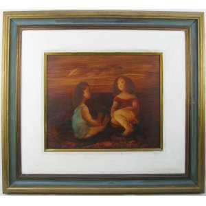 TERUZ - MENINAS - OST - 38X46cm. Dat. 1980 no verso. Obra analisada pelo filho do artista, com possibilidade de emissão de certificado de autenticidade (por conta do comprador).