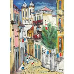 Sylvio Pinto<br>Vista de Ouro Preto <br>OST 61 x 46 ACID