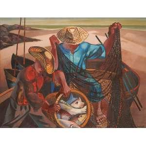 Fernando P.<br>Pescadores OST<br>90 x 116 <br>Déc. 60 ACID
