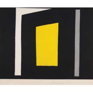 AMILCAR DE CASTRO<br>Composição em Preto e Amarelo Litho 6/50 <br>60 x 70 ACID
