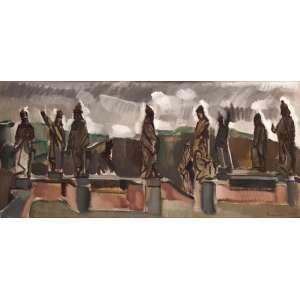 EMERIC MACIER <br>Santuário com os Profetas de Aleijadinho<br>Congonhas do Campo - MG OST <br>73 x 152 1963 ACID