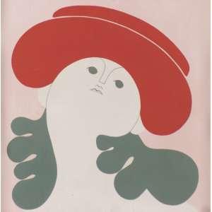MILTON DACOSTA<br>Figura com chapéu AST <br>25 x 25 Rio 1980 Ass. Verso