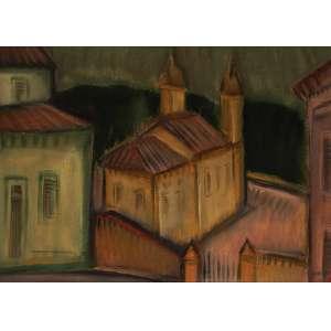 CARLOS BRACHER<br>Igreja Nossa Senhora das Mercês OST <br>73 x 54 1983 ACID