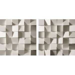 RODRIGO RATTON<br>Diptico - Esculturas de Parede <br>ASM 40 x 40 Ass. Verso