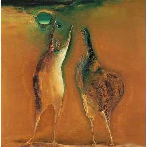 MANABU MABE Guerreiros OST 102 x 102 cm ACIE e Verso 1972 Nº AB 72 - 2 Cachet da Galeria Arte Ipanema RJ