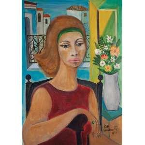 <b><i>*Retirado por impedimento judicial familiar dos proprietários.</b></i><br/>Emiliano Di Cavalcanti - Mulata com flores OST - ACID e verso 1965 - 92 x 65 - No verso carimbo da - Petite Galerie - RJ