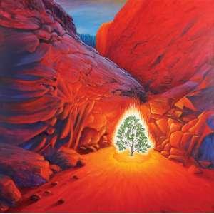 "Antônio Peticov - ""The Burning Bush"" AST - 182 x 182 1986 - Ass. Verso"