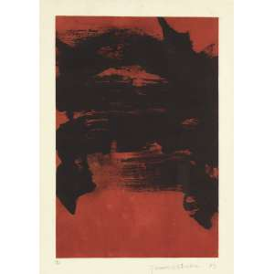 TOMIE OHTAKE<br>Abstrato Gravura 12/30<br>70 x 50 1989 ACID<br>