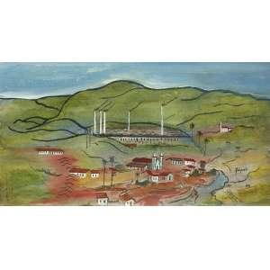 ALBERTO DA VEIGA GUIGNARD<br>Paisagem mineira OSM<br>21 x 36 Circa 1960 ACID Coleção Tereza Castanheira – MG<br>