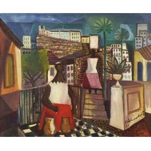 EMILIANO DI CAVALCANTI<br>Baianas OST<br>60 x 732 1967 ACID<br>Reproduzido no catalogo da Sotheby's em leilão realizado em 27 de Maio de 1998<br>... juntamente com Guignard, Volpi e Lasar Segall, Pancetti retoma na pintura a melhor tradição da paisagística brasileira, mas, de todos, Pancetti foi o que melhor soube captar a força, a exuberância e a luminosidade da paisagem litorânea brasileira.<br><br>Medeiros Lima<br>