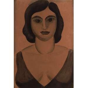 Ismael Nery - Figura de Mulher - Guache - 27 x 18 - Déc. 20 - ACIE - Reproduzido na exposição retrospectiva do artista na Dan Galeria - SP em 1991. Cachet no Verso da Dan Galeria.