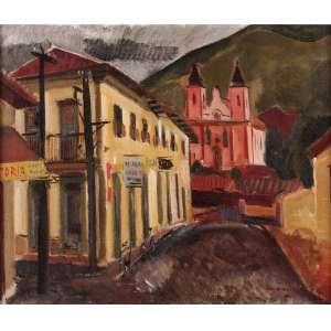 Emeric Marcier - Vista de Ouro Preto - OST - 54 x 73 - Déc. 70 - ACID