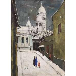 """Bustamante Sá - """"Rue Du Chevalier De La Barre"""" Paris - OST - 73 x 54 - 1949 - ACID e Verso - Reproduzido no livro do artista por Quirino Campofiorito... à pág. 77, figura 47"""