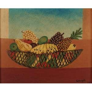 Lorenzato - Composição com Cesto de Frutas - OSD - 45 x 55 - 1975 - ACID