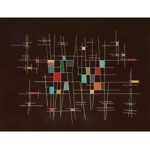 Mário Silésio - Composição Construtiva - OST - 48 x 37 - 1956 - Ass. Verso