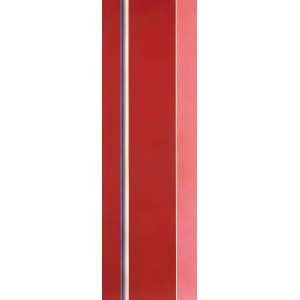 Lotar Charoux - Traços Vermelhos - OST - 100 x 35 - 1974 - Ass. Verso - Com certificado emitido pela família do artista