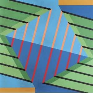 Maurício Nogueira Lima - Variação IX - Acrílica e Colagem Sobre Tela - 80 x 80 - 1985 - Ass. Verso - Registrado no Instituto Maurício Nogueira Lima