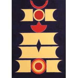 Rubem Valentim - Emblema II - AST - 50 x 35 - 1987 (DF) - Ex-coleção particular Celma Albuquerque