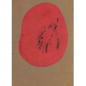 Antônio Bandeira - Figuras - TM - 32 x 26 - 1952 - ACID - Ex-coleção do escultor José Pedrosa