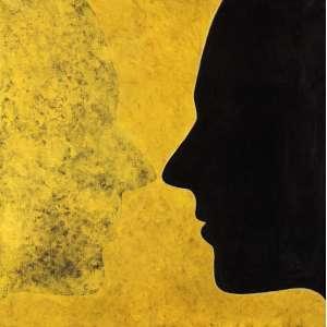Tomie Ohtake - Silhuetas - OST - 70 x 70 - 1989 - Ass. Verso - Com Cachet de registro no verso do Instituto Tomie Ohtake Nº P.89.30
