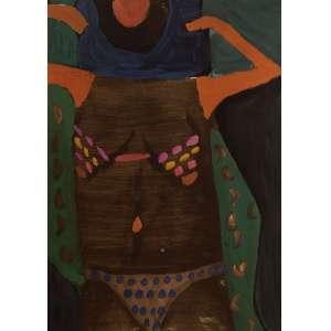 Jorge Guinle - Figura Feminina - Aquarela - 35 x 25 - Não Assinada - Procedente da coleção da família do artista