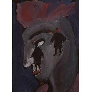 Jorge Guinle - Figura Masculina - Aquarela - 35 x 25 - Não Assinada - Procedente da coleção da família do artista
