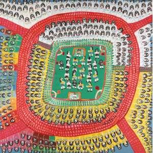 """Antônio Poteiro - """"Brasil x Alemanha - A Copa do Mundo de 2002 é nossa"""" (Dizeres no verso) - OST - 120 x 120 - ACID - Com dedicatória do artista """"Para Alexandre Alves Cardoso do amigo Poteiro"""""""