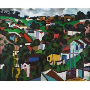 Inimá de Paula - Morro da Serra - Belo Horizonte - OST - 65 x 81 - ACID - Catalogado no dicionário raisoneé do artista