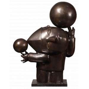 Inos Corradin - O Equilibrista - Escultura em Bronze - 64 x 45 x 20 - Ass.Base