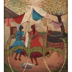Heitor dos Prazeres - Vida carioca - OSD - 36 x 32 - Rio 2/3/1963 - ACID - Cachet da Galeria Contorno - RJ
