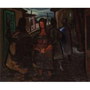Emiliano Di Cavalcanti - Mulheres de Ouro Preto - OST - 50 x 61 - Déc. 1930 - ACID