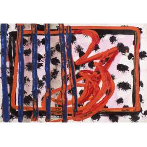 Arthur Barrio - Pendant - Série Africana - TM - 24 x 32 - 1982 - Ass. Verso