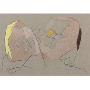 Cildo Meireles - O Beijo - Pastel seco s/ cartão - 29 x 42 - 1991 - ACID - Acompanha certificado do artista