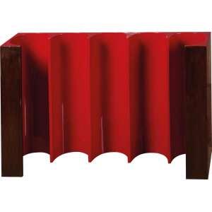 Joaquim Tenreiro - Fita Vermelha - Escultura de parede - Jacarandá e Tinta Automotiva - 45 x 72 - Cachet da Galeria Oscar Seraphico DF