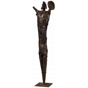 Xico Stockinger - Guerreiro - Escultura em Chapa - 125 x 30 x 10 - Ass. Base