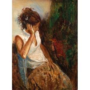 Virgílio Dias - Repouso (A filha do artista) - OST - 180 x 120 - 2006 - ACID e Verso