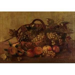 Estevão Silva - Composição com frutas - OST - 53 x 74 - 1888 - ACSD